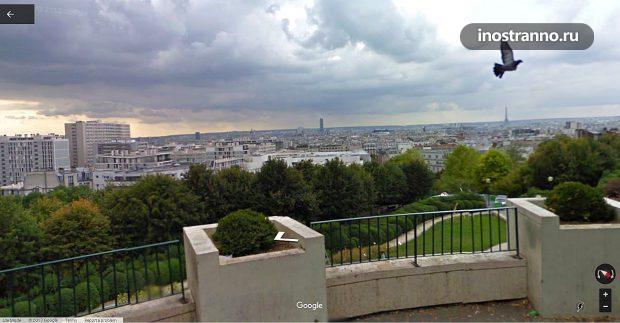 Парк Бельвиль в Париже