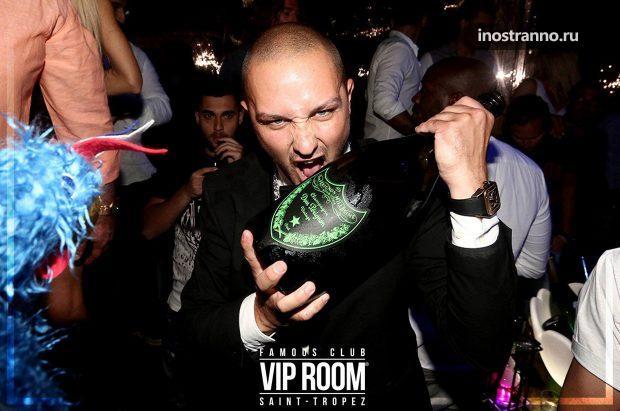 Vip Room Dom Perignon ночной клуб в Сен-Тропе, Франция
