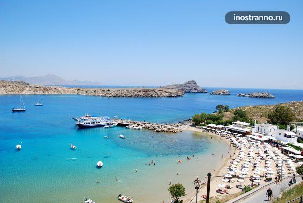 Пляж на Родосе, Греция