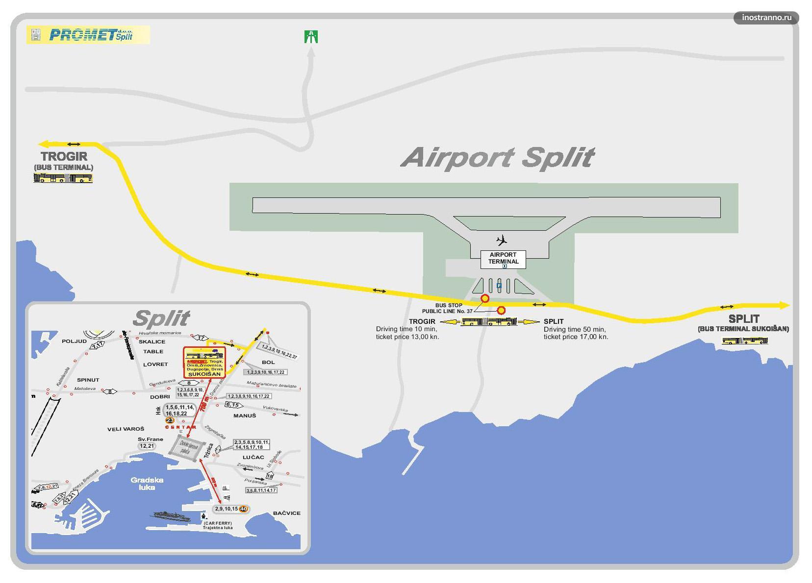 Схема аэропорта в загребе