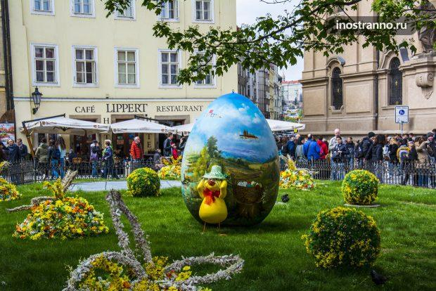 Украшение города на Пасху, Прага