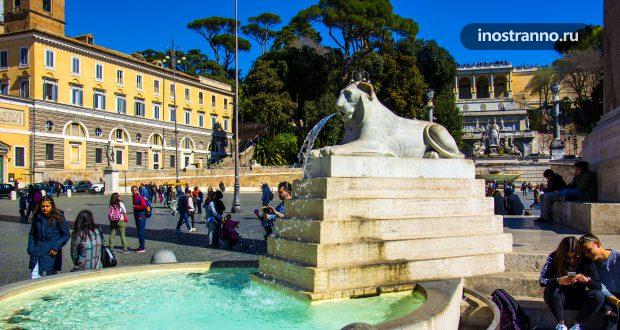 Фонтаны Рима - фото с названиями и описанием карта