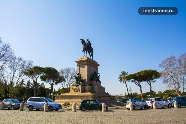 Памятник Гарибальди в Риме