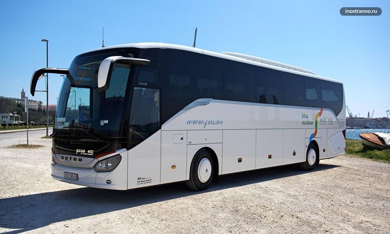 Автобус-шаттл из аэропорта Пула