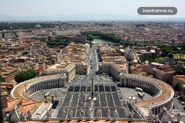 Вид с Собора Святого Петра в Риме
