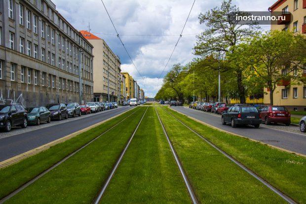 Трамвайные пути в Праге