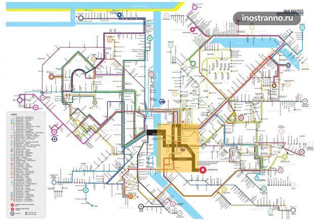 Карта автобусов в Риге