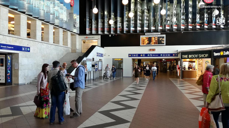 Рига центральный железнодорожный вокзал