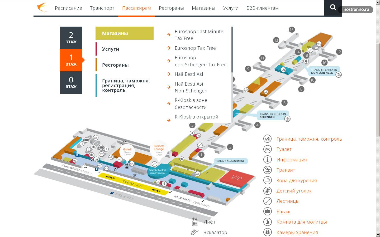 Аэропорт схема аэропорта таллин