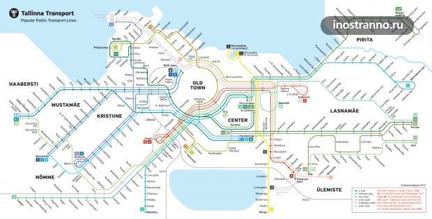Карта транспорта Таллина