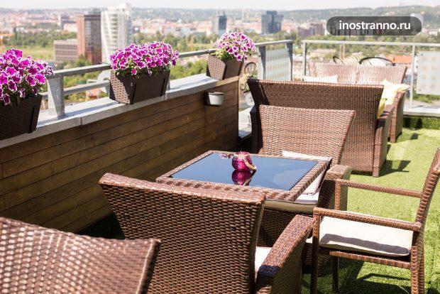 Balu Kitchen ресторан в Праге с красивым видом
