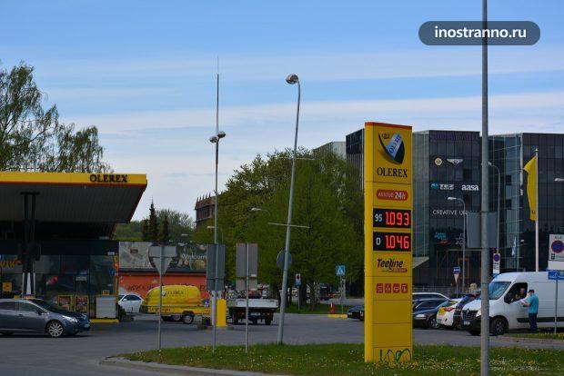 Цены на бензин в Таллине