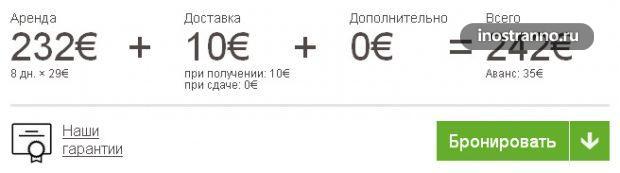 Доплата за доставку авто в аэропорт
