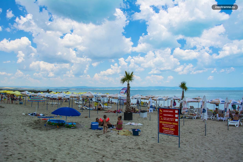 Северный пляж в Поморие, Болгария