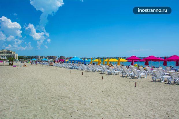 Южный пляж в Поморие, Болгария