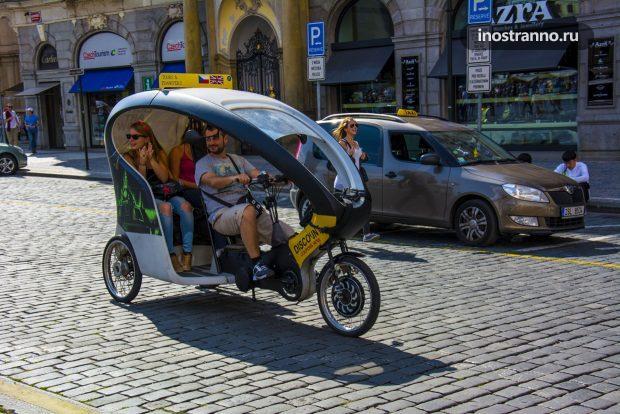 Велорикша в Праге