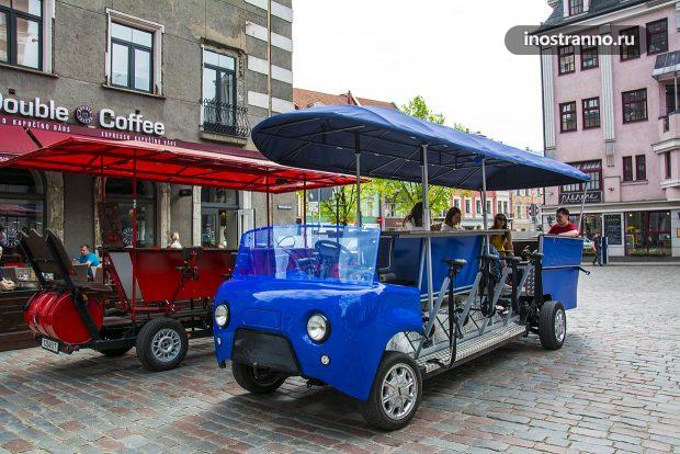 Beer bike for stag party in Riga