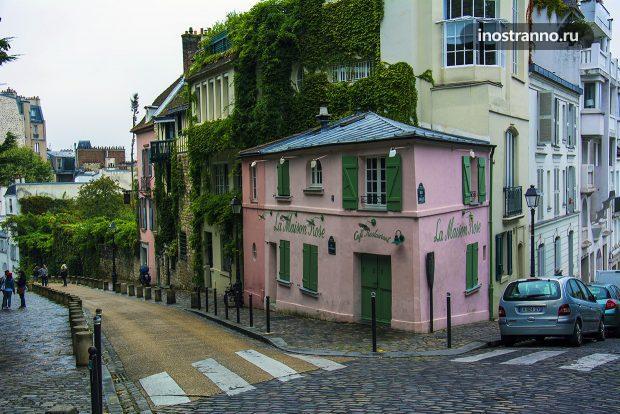 Дом в растениях в Париже