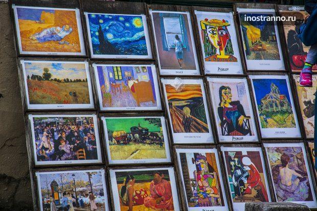 Продажа картин на Монмартре