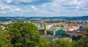 Брно со смотровой площадки у замка Шпильберк
