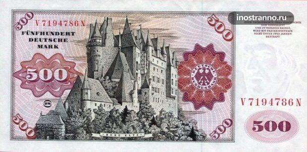Банкнота 500 немецких марок