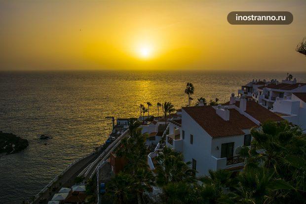 Закат солнца на Тенерифе