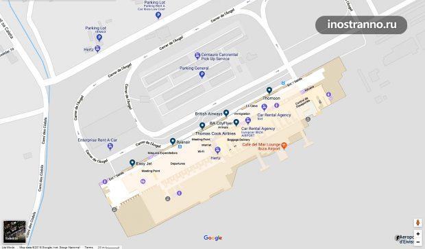 Аэропорт Ибица карта