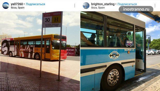 Автобус на Ибице, общественный транспорт