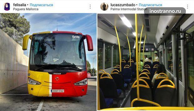 Автобусы на острове Майорка