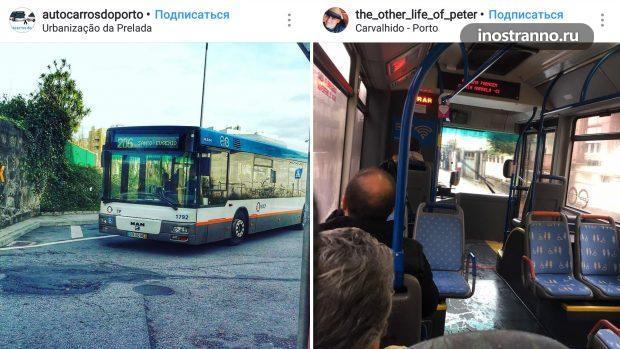 Автобус в городе Порту