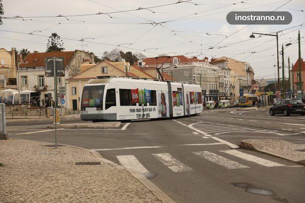 Лиссабон современный трамвай