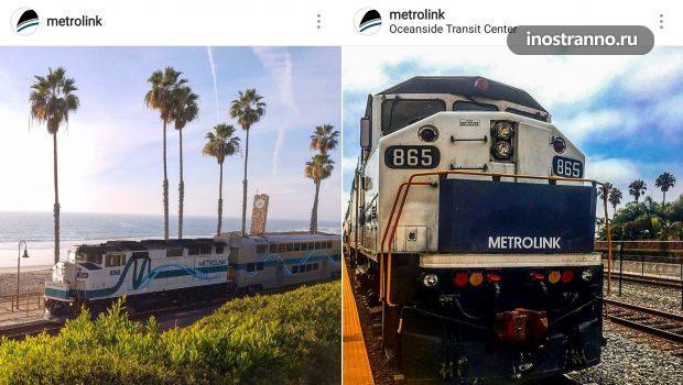 Лос-Анджелеса Metrolink сеть пригородных электричек