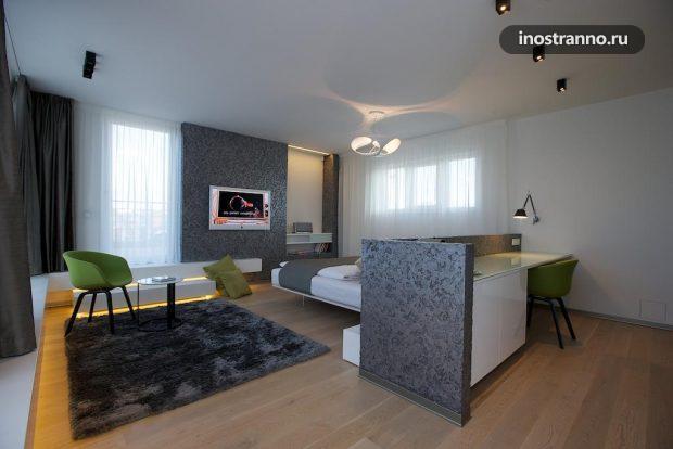Номер в хорошем отеле Mosaic House в центре Праги