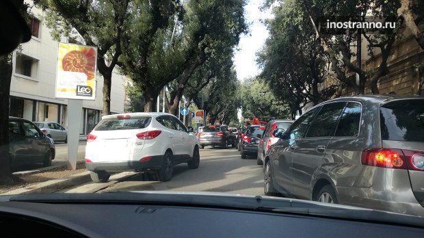 Движение на дорогах в Италии