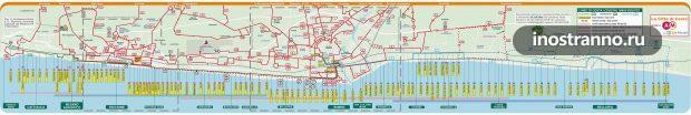 Схема маршрутов автобусов в Римини