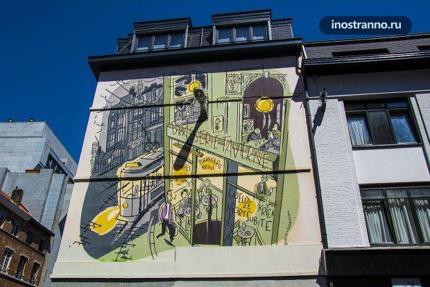 Украшение фасадов домов в Брюсселе