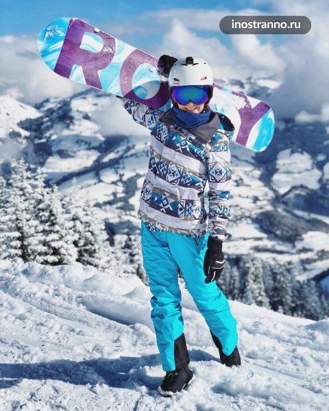 Китцбюэль горнолыжный курорт для сноуборда