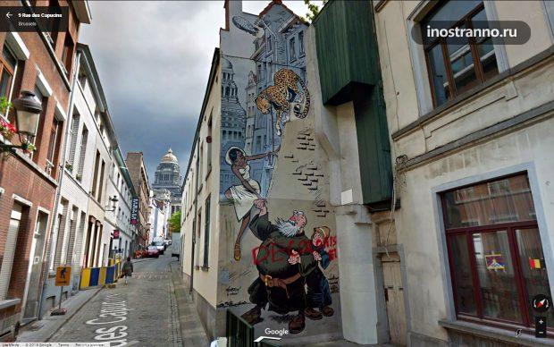 Граффити комикс Odilon Verjus, Rue des Capucins