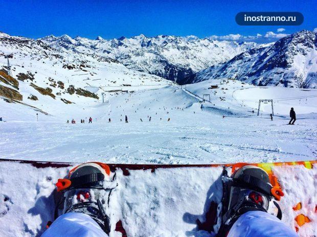 Золден Австрия, где кататься на лыжах