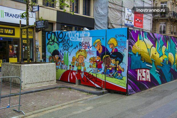 Спорт Граффити в Брюсселе