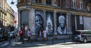 Стрит-арт и граффити на улочках Брюсселя