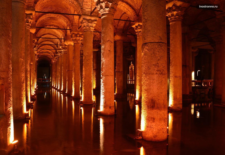 Цистерна Базилика музей подземелье в Стамбуле