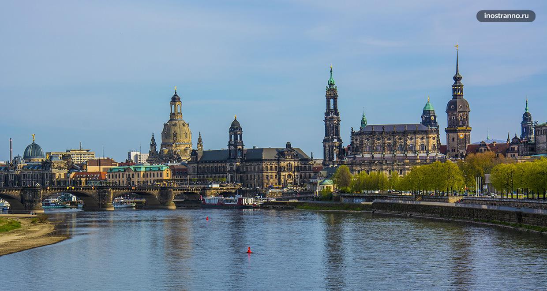 Вид на Старый город Дрездена