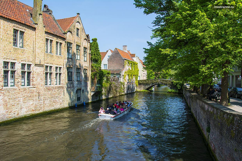 Количество мостов и каналов в Брюгге