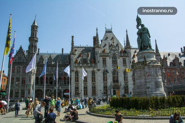 Неоготическое Здание Суда Провинции Западной Фландрии в Брюгге