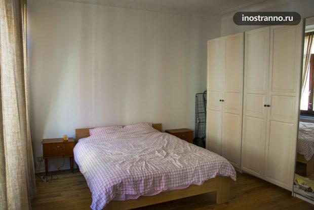Спальня в квартире в Брюсселе