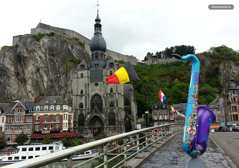 Динан город на скале в Бельгии