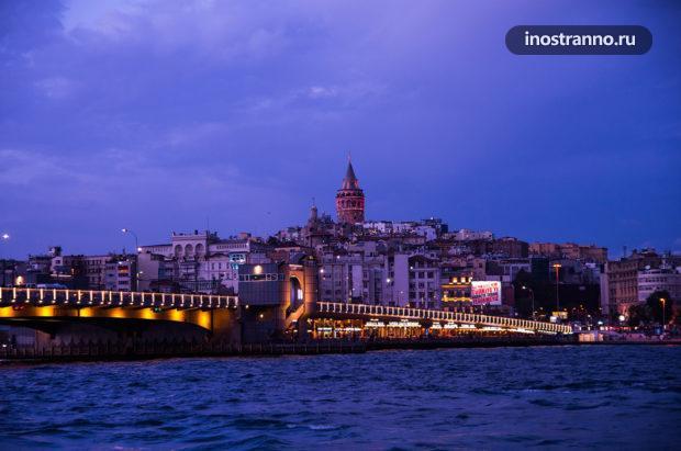 Галатская башня и Галатский мост Достопримечательность Стамбула