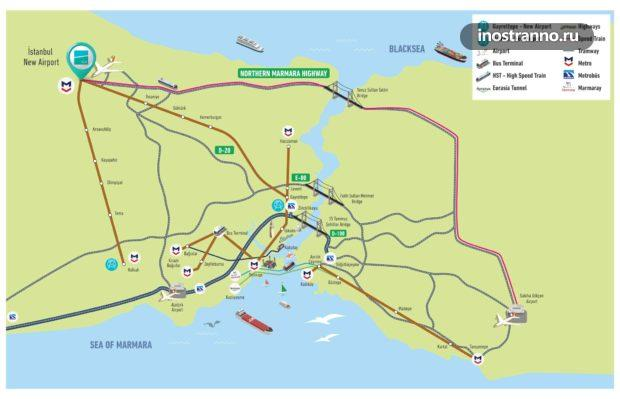 Новый аэропорт Стамбула как добраться до центра