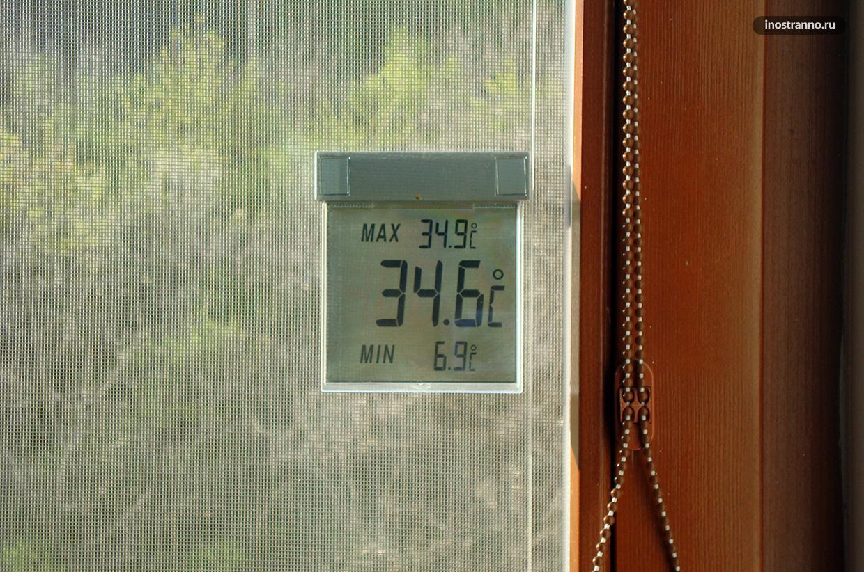 Температура воздуха в Праге летом